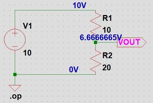 回路図上に電圧が表示