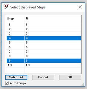 Select Displayed Steps