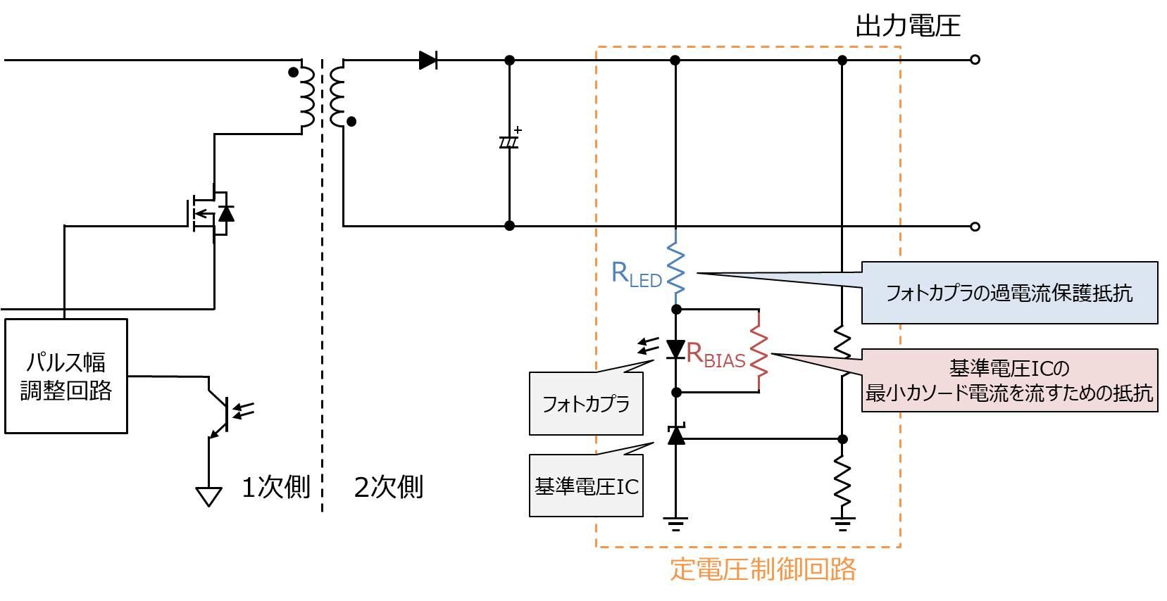 定電圧制御回路の回路例
