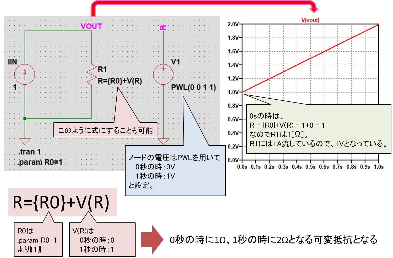 可変抵抗シミュレーション例2