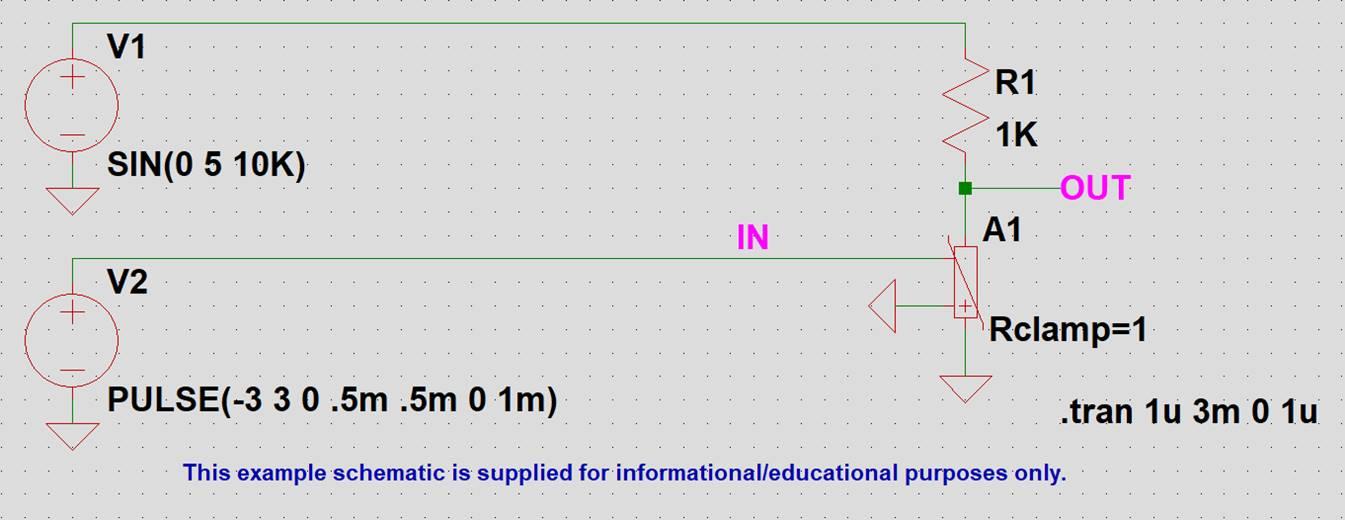 【LTspice】バリスタのサンプル回路図