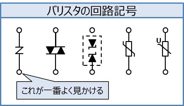 バリスタの回路記号