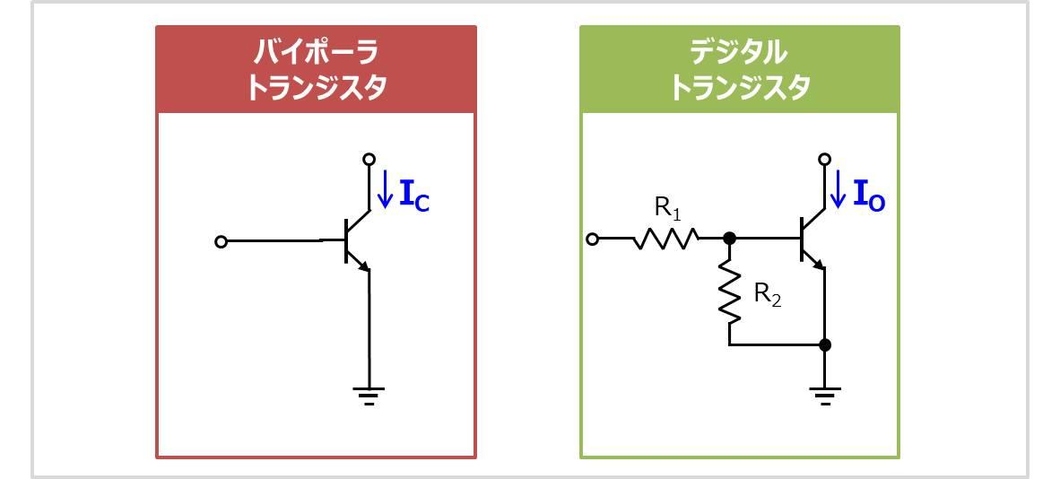 【デジタルトランジスタ(デジトラ)】バイポーラトランジスタとの違い
