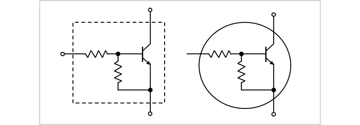 デジタルトランジスタの回路記号