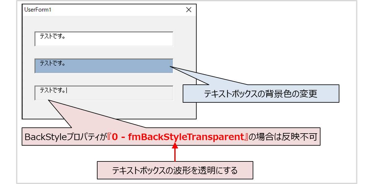 BackColorプロパティ