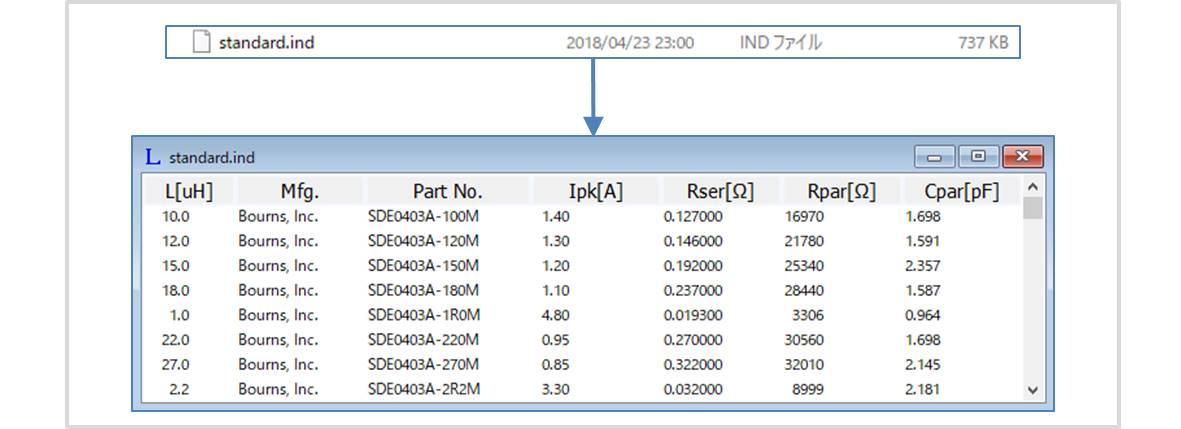 【LTspice】ディスクリート部品のライブラリファイル(.indファイル)