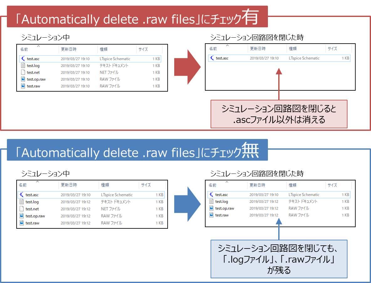 【LTspice】不要になったファイルを削除する02