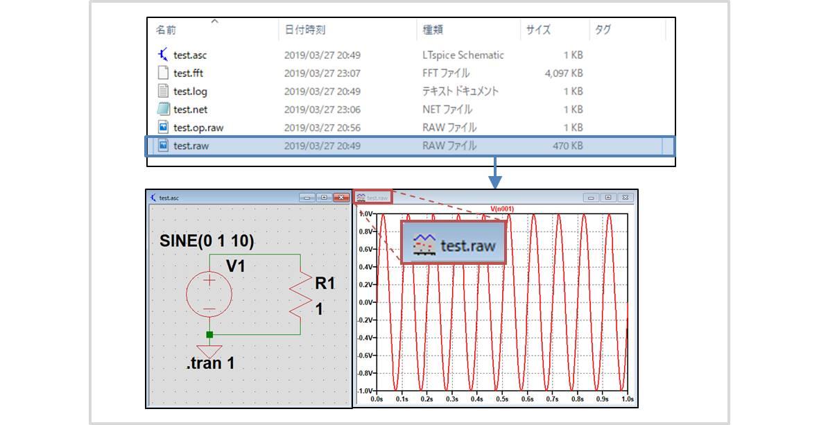 【LTspice】波形ファイル(.rawファイル)