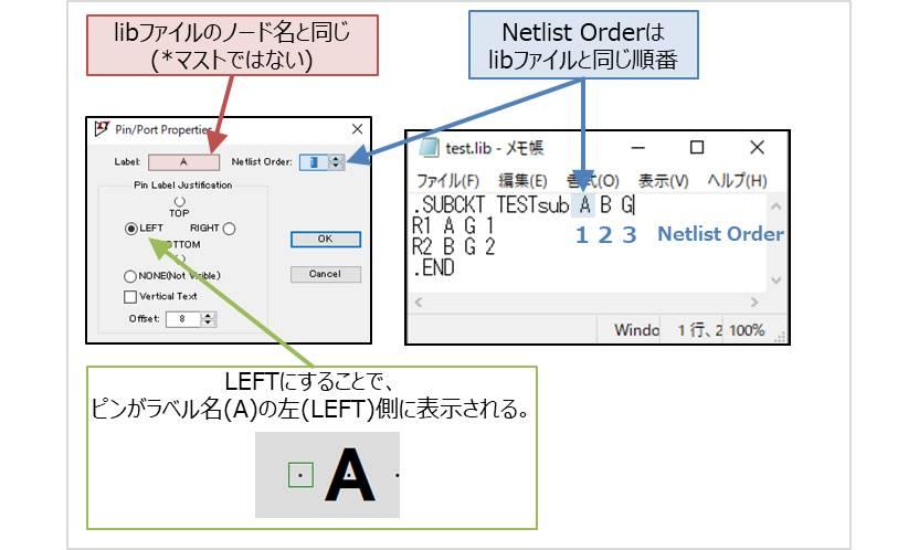 【LTspice】LabelやNetlist Orderを入力