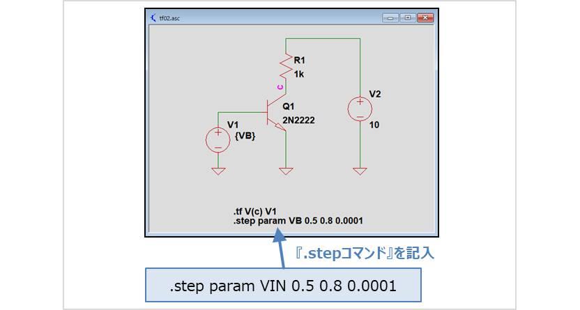 【LTspice】 .tf解析を『.stepコマンド』で変化させた時のシミュレーション01