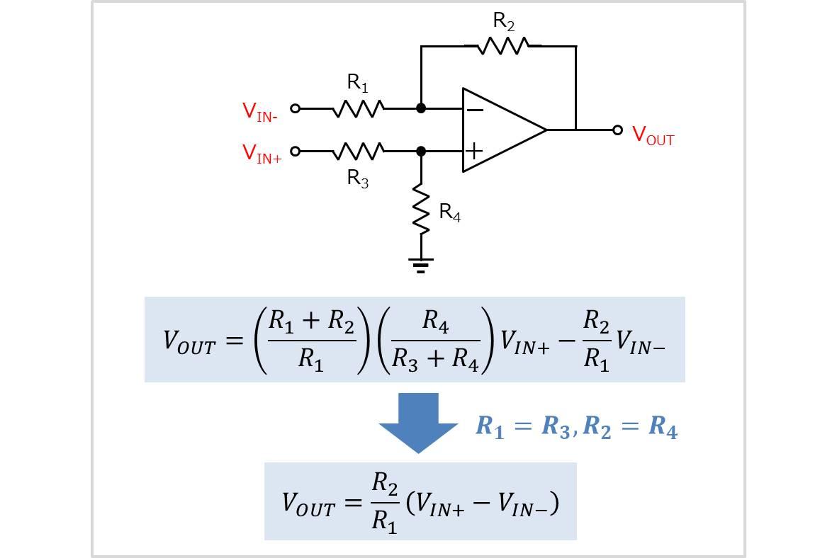 差動増幅回路の式