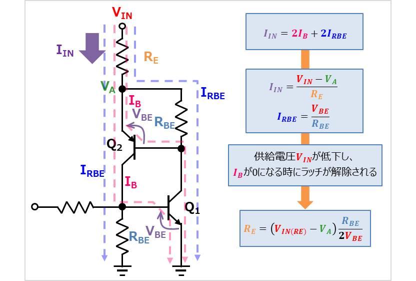 【ラッチ回路】電流経路