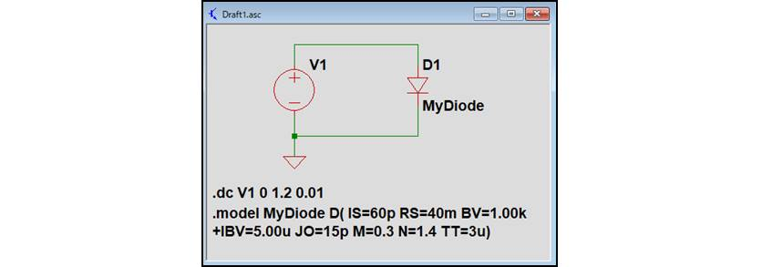 【LTspice】『.modelコマンド』のシミュレーション回路