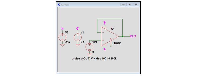 【LTspice】『.noise解析』のシミュレーション回路