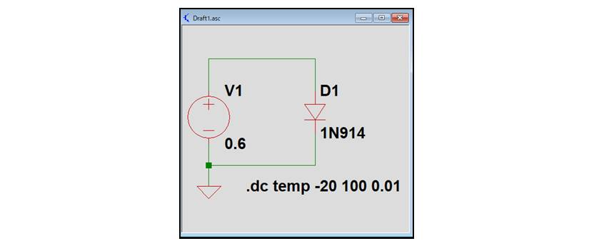 【LTspice】温度をスイープする方法01