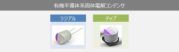 有機半導体系固体電解コンデンサ(OSコン)