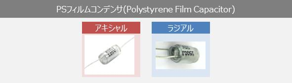 PSフィルムコンデンサ(Polystyrene Film Capacitors)