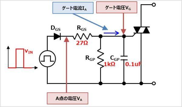 【トライアック】ゲート回路の素子値