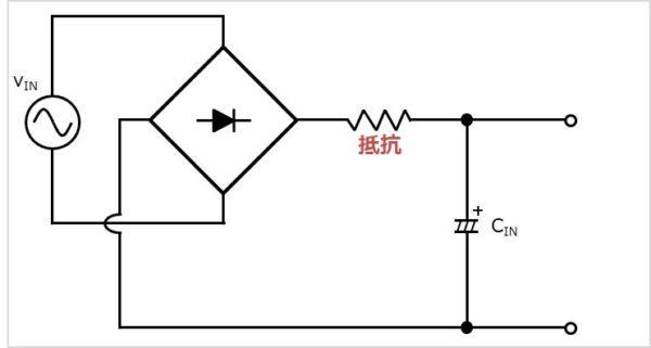 【突入電流防止回路】抵抗を用いた場合