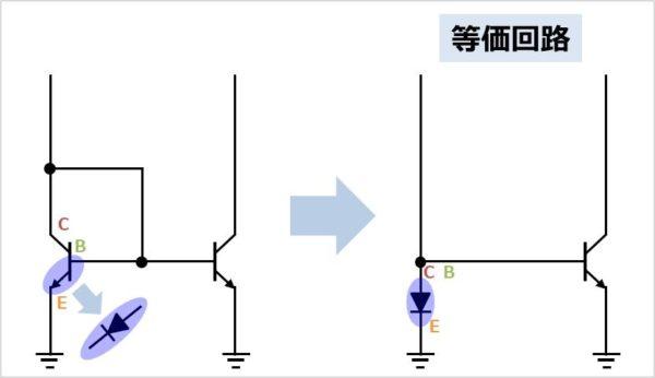 カレントミラーの等価回路