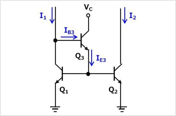 ベース電流補償型カレントミラー