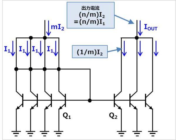 多出力のカレントミラー02