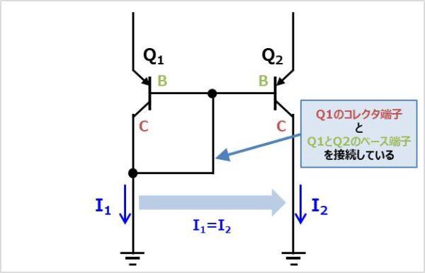 PNP型のカレントミラー