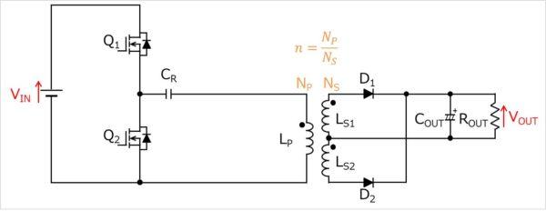 LLCコンバータの回路