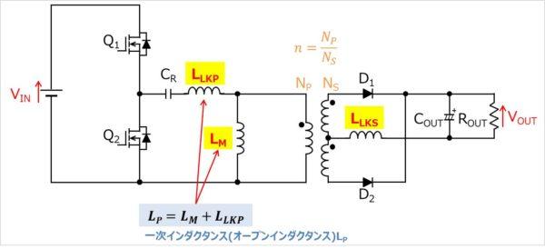 LLCコンバータの等価回路01