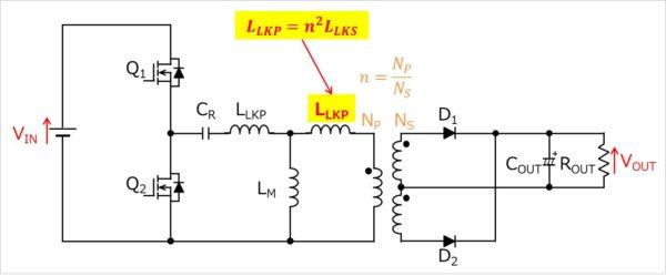 LLCコンバータの等価回路02