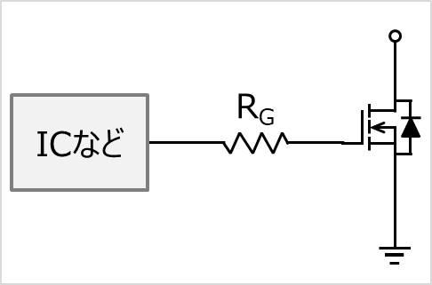 抵抗1つで構成された基本的なゲート駆動回路