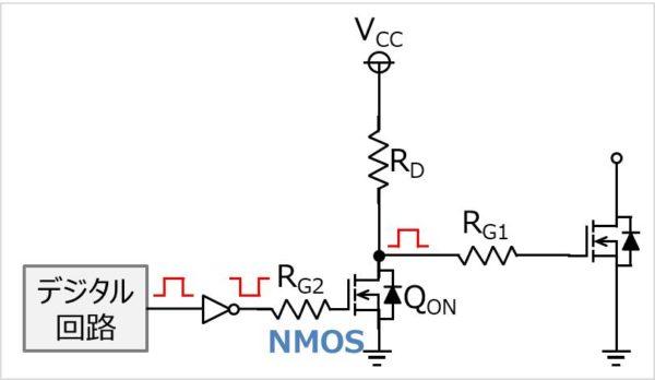 NチャネルMOSFET(NMOS)で昇圧を行うゲート駆動回路