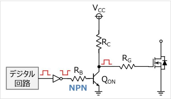 NPNトランジスタで昇圧を行うゲート駆動回路
