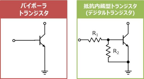 抵抗内蔵型トランジスタ