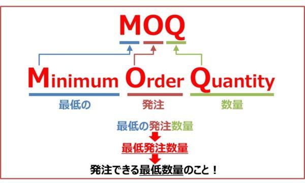 最低発注数量(MOQ)