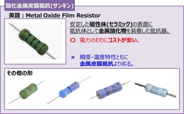 酸化金属皮膜抵抗(サンキン)
