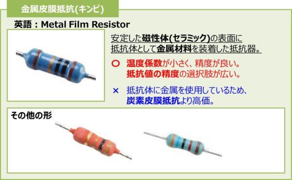 金属皮膜抵抗(キンピ)
