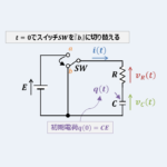 【RC放電回路の微分方程式】『過渡現象』の解き方!