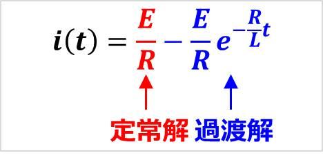 【RL直列回路】『定常解』と『過渡解』