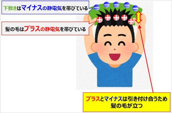 下敷きを髪の毛に擦ると静電気が発生する理由