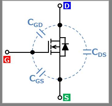 MOSFETの寄生コンデンサ