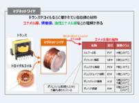 【トランス】巻線(マグネットワイヤ)の種類について!
