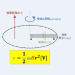 【回転導体棒の誘導起電力】『大きさ』と『向き』について解説!
