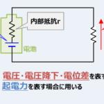 【電圧と起電力の記号】『V』と『E』の違いとは?