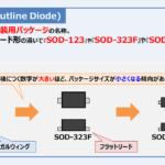 【SOD】パッケージの『種類(SOD-323など)』と『特徴』を解説!