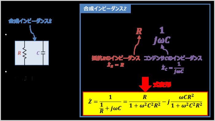 RC並列回路の『合成インピーダンス』