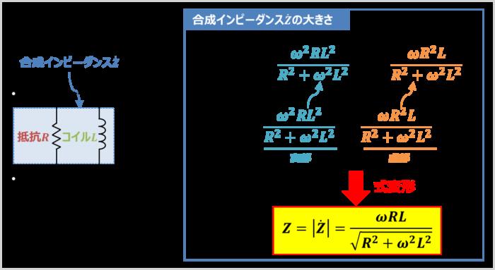 RL並列回路の『合成インピーダンス』の大きさ